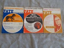 Fate Magazine Articles The Strange, The Unusual, The Unknown 3 issues - USED!!