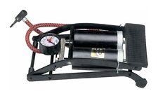 New Crivit pompa a pedale doppio cilidro compressore con manometro scooter