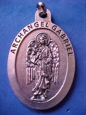 ARCHANGEL St GABRIEL Saint Medal Large 1-3/4-inches Long Protection Angel 3L