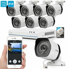 Zmodo 720p HD NVR Weatherproof Surveillance Video Security Camera System 1TB ...