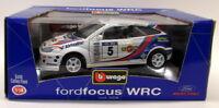 Burago 1/18 Scale Diecast 3328 Ford Focus WRC Martini Rally car Model