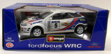 Burago Diecast Escala 1/18 3328 FORD FOCUS WRC MARTINI Rally Coche Modelo