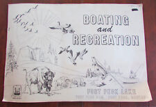 Vtg Montana Fort Peck Lake Boating Recreation Maps Army Corps of Engineers 1975