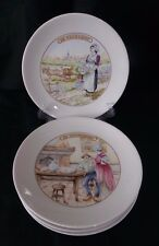 ALPICO CHEESE PLATES APPETIZER DISHES LOT OF 5 LIMOGES FRANCE