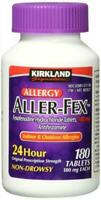 Kirkland Signature Aller-Fex 180 mg - 180 Tablets exp date 12/2020 Sealed