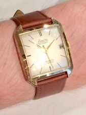 Vintage Large Gold Plated FORESTA Glashutte Automatic 25 Jewels Mens Dress Watch
