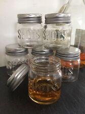 Set Of Six Shot Glass Jars Party Wedding Vodka Tequila Drinking Games Pots 50ml