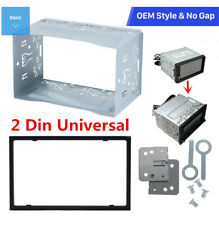 Metal 2Din Fascia Mounting Dash Kit for Car Radio DVD Stereo Installation Frame