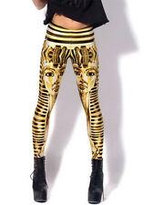 Lucky Girl Womens Exotic Yellow King Tut Egyptian Pyramid Dance Leggings