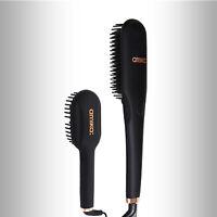 Amika Polished Perfection + Mini Straightening Thermal Hair Brush Bundle | Black