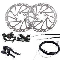 Metal Bike Mechanical Disc Brake Set Front Rear Caliper 160mm Rotor Bicycle Kit