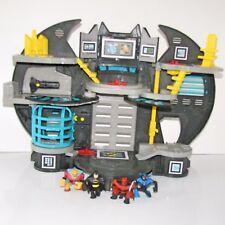 Imaginext Batcave Playset with 4 DC Hero League Figures (Batman Blue Beetle)
