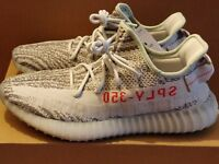 ADIDAS YEEZY BOOST 350 V2 BLUE TINT GREY & RED UK 7 8.5 10 = US 7.5 9 10.5 BNIB