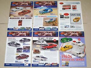 TRAX Catalogue 2006 Complete Set of 6 Model Car Brochures - Holden Ford Chrysler