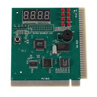 PC Motherboard Diagnostic Card 4-Digit PCI/ISA POST Code Analyzer I8Y1
