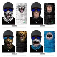 Animal Pattern Bandana Neck Tube Wind Protector Face Shield Mask Ski Winter Sun