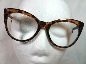 NEW Betsey Johnson Oversized Cat Eye Reading Glasses Readers Tortoise