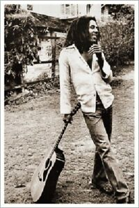 BOB MARLEY In My Backyard POSTER 24x36 Black and White vintage import