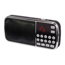 RADIO PORTABLE FM RECHARGEABLE AVEC PORT CARTE MICRO SD ET CLEF USB + LAMPE