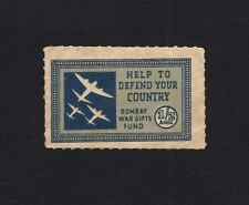 India WW2 Bombay War Gifts Fund 1/2a blue label