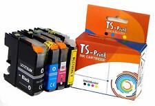 TS-Print Set de 4 Cartouches d'encre pour Brother LC-125-XL LC-127-XL Noir Black