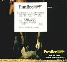 2009 PREAKNESS PROGRAM &  $2 WIN SOUVENIR TICKET(RACHEL ALEXANDRA)