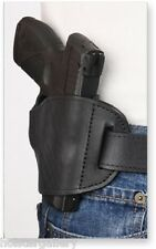 Black Leather Gun Holster fits AMT Backup 380 Protech OWB Right Hand Draw
