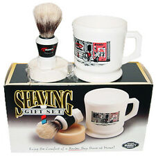 Marvy Shaving Gift Set Contains Boar Bristle Brush Mug & Soap Shave Barber