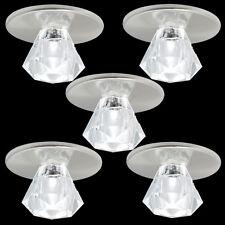 5er Set LED Kristall Glas Einbauleuchte KALTWEIß Sternenhimmel Lichtpunkte