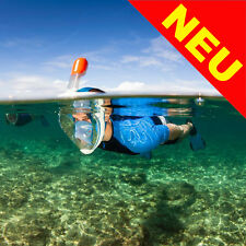Tribord EasyBreath Snorkel Mask Full Face Surface Snorkelling Size M/L Blue NEW