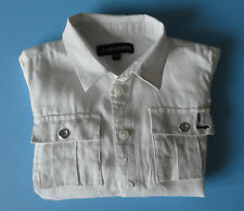 Chemise blanche lin Jean Bourget 2 ans TBE