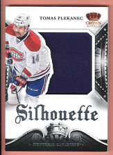 13/14 Crown Royale Silhouette Materials #TPL Tomas Plekanec Jersey Card SP/100
