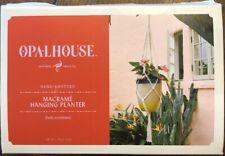 "38"" Novelty Macrame Hanging Planter - White - Opalhouse™ Hand Knotted New"