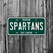 Michigan State University Spartans East Lansing License Plate