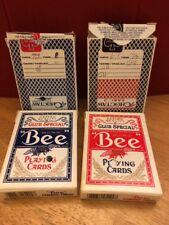4 decks Vtg Choctaw Casino Playing Cards Bee No.92 Club Special Diamond Cambric
