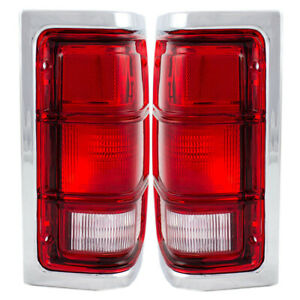 New Pair Set Taillight Taillamp Assembly for 81-93 Dodge Ram Truck & Ramcharger