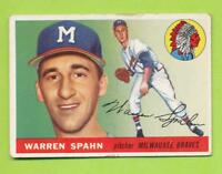 1955 Topps - Warren Spahn (#31)  Milwaukee Braves