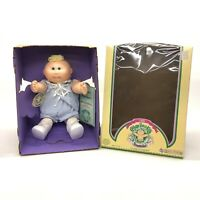 1985 Cabbage Patch Preemie Boy Doll With Original Box Papers Blonde Blue Eyes