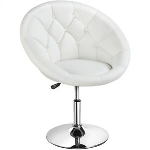 1pcs Modern Round Tufted Height Adjustable Kitchen Island Chairs Vanity Chair