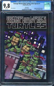 MISPRINT/ERROR/RECALLED TMNT #1 CGC 9.8 1st Color Printing Turtles 2009 Special