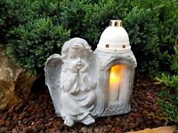 Grablaterne Grablampe Engel Herz  Grablicht Grabschmuck Kerze Grabkerze NEU