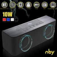 NBY 10W Wireless bluetooth Speaker HiFi Bass Stereo Subwoofer AUX TF FM USB