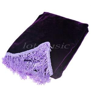 Pleuche Upright Piano Cover Piano Half-Cover Dust Cover New Purple
