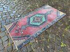 Turkish vintage rug, Carpet, Bohemian rug, Handmade wool rug   2,3 x 7,9 ft