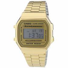Casio A168WG-9 Vintage Men's Digital Illuminator Gold-Tone Stainless Steel Watch