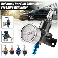 Universal Adjustable Auto Car Fuel Pressure Regulator W/KPa Oil Gauge 0-16PSI
