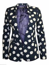 Hip Length None Spotted Casual Coats & Jackets for Women