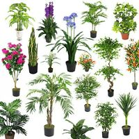 Grand Artificiel Palmiers, Plantes Ficus , Bambou Tropical Yukka Ultra Réaliste