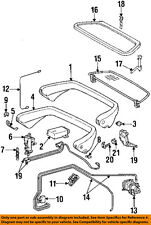 MERCEDES OEM 94-98 SL600 Roll Bar-Rear Body & Floor-Cylinder 1298001272