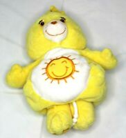 Care Bears Baby Bear Musical Pull Crib Baby Toy Yellow Sunshine Plush Funshine